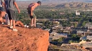 American Football Team Help Rescue Woman Hanging Off Cliff