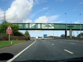Ever Seen 'The Pies' Graffed On A Bridge? This Is What It's All About