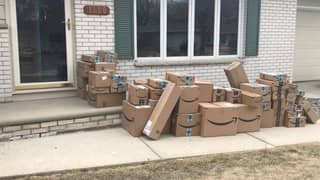 ​Woman Pranks Husband With Six Months' Worth Of Amazon Boxes