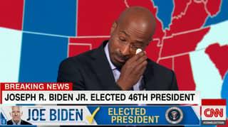 CNN's Van Jones Has Tearful Response To News Joe Biden Won The US Election