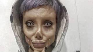 Iranian Angelina Jolie 'Zombie Lookalike' Is 'Jailed For Ten Years'