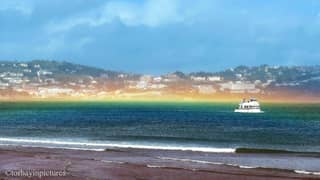 Amazing Flat Rainbow Spotted Off The Coast Of Devon After Storm Francis