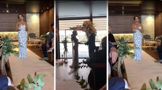 Heart-Warming Moment Bride Signs Her Wedding Song To Her Deaf Husband