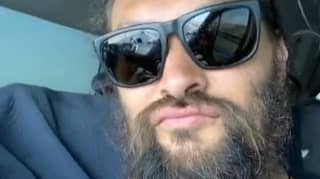 Jason Momoa Shares Shirtless Video After Car Beaks Down At Side Of The Road