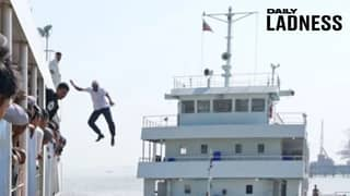 Dramatic Moment Captain, 60, Jumps 40 Feet From His Ship To Save Drowning Woman