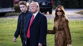 Donald Trump Says His Son Barron Had Coronavirus For 'Like Two Seconds'