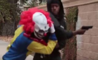 'Killer Clown' Prankster Gets Pistol Whipped For Messing With The Wrong Guy