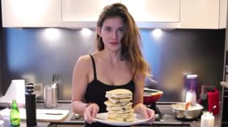 YouTuber Rebecca Jane Attempts To Eat The Rock's Cheat Day
