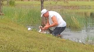 ​Florida Man Speaks Out After Saving Puppy From Alligator