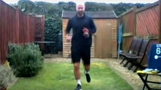 Ex-Athlete Completes Marathon In Six Metre Back Garden Raising £20,000 For NHS