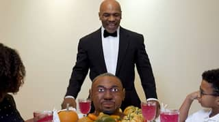Mike Tyson Eats An Ear From A Roy Jones Jr. Cake