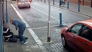 CCTV Footage Captures Traffic Warden Being Brutally Attacked By Motorist