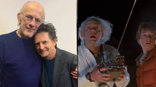 Michael J. Fox And Christopher Lloyd Reunite Nearly 35 Years After Back To The Future Came Out