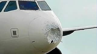 Plane Forced To Make Emergency Landing In New York After Hitting Hail