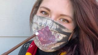 ​Artist Creates Harry Potter Face Masks That Show Marauder's Map When You Breathe