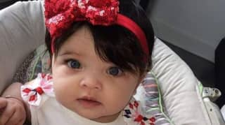 A Baby Has So Much Hair People Often Mistake It For A Wig