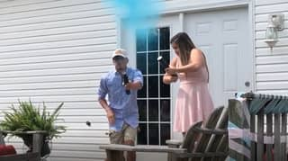 Gender Reveal Party Goes Very Wrong For Dad-To-Be