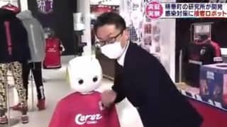 Robot That Enforces Social Distancing And Mask-Wearing Tested In Japan