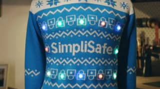 Christmas Jumper Makes Sure People Are Socially Distancing
