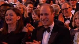 Brad Pitt Makes Prince Harry Joke During BAFTA Acceptance Speech - In Front Of Prince William