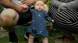 Parents Shocked After Eight-Week Old Daughter Learns To Stand
