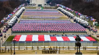 200,000 Flags Placed On National Mall For Joe Biden's Inauguration
