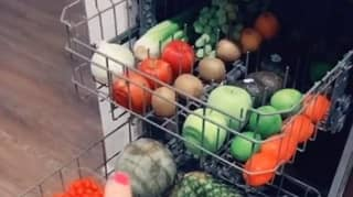 Woman Washes Fruit And Veg In Dishwasher With Vinegar - People Aren't Impressed