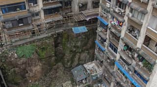 Huge Headless Buddah Statue Found Under Building In China