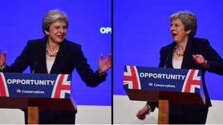 Theresa May Throws Shapes To 'Dancing Queen' At Start Of Conference Speech