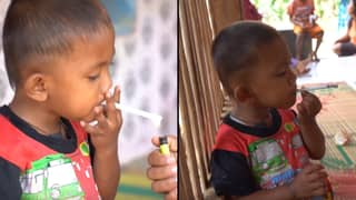 Chain Smoking Toddler With Two-Pack-A-Day Addiction 'At Risk Of Brain Damage'
