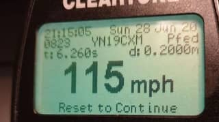 Driver Caught Speeding At 115mph Tells Police He Was 'Desperate' For Toilet