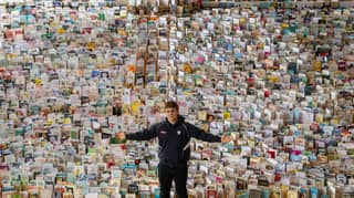 School Hall Filled With 120,000 Cards For Captain Tom Moore's 100th Birthday