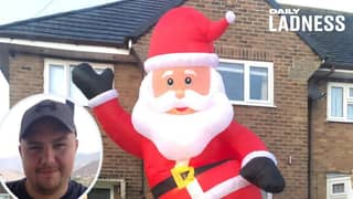 Dad Accidentally Orders Inflatable Santa The Size Of His House From eBay