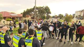 Anti-Lockdown Protestors Arrested After Clashing With Police In Melbourne