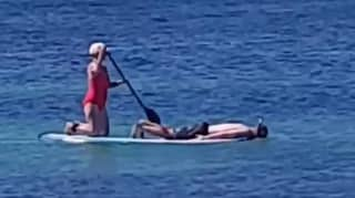 Footage Shows Man Getting Paddled About Face-Down While Snorkelling In Australia