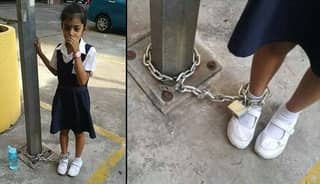 Mother Chained Daughter To Pole And Left Her There As Punishment