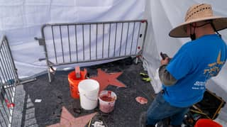 Donald Trump's Hollywood Walk Of Fame Star Smashed By Someone Dressed As Hulk