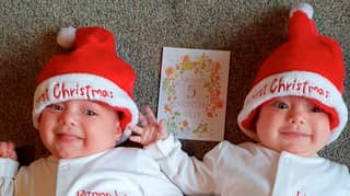 'First' UK Twins Born With Covid-19 Prepare For First Christmas At Home