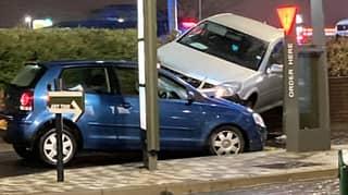 Family's Lucky Escape After Bizarre Car Crash Outside McDonald's