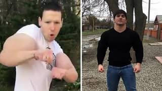 Bloke With 'Popeye' Arms Challenges Teenage Bodybuilder To Fight