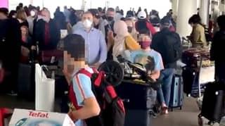 Passengers Rage At Lack Of Social Distancing At Airport
