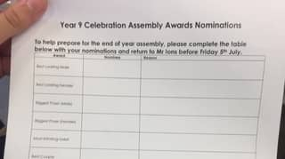Secondary School Slammed For Asking Pupils To Vote For 'Best Looking' Children