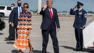 Melania Trump Snubs Photo Op After Landing In Florida With Donald