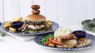 JD Wetherspoon Christmas Menu 2019 Includes A Pigs In Blankets Burger