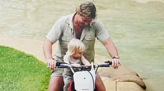 Robert Irwin Recreates Dad Steve's Iconic Motorbike Moment