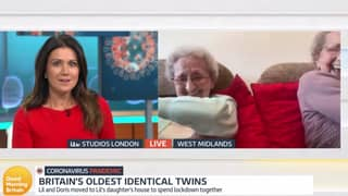 Britain's Oldest Identical Twins Have GMB Viewers In Hysterics After Cheeky Interview