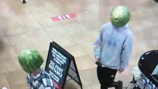Two People Accused Of Shoplifting While Wearing Watermelons On Their Heads