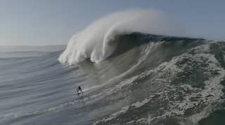 Surfer Is Engulfed By Huge Wave After Coming Off His Board