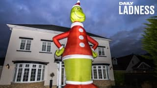 Man Orders 35-Foot-Tall Grinch That's Bigger Than His House