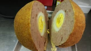 Man Who Created World's Biggest Scotch Egg Says Ordinary Sized Ones Aren't 'Substantial Meal'
